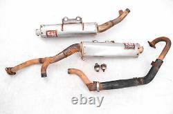 04 Kawasaki KFX700 2x4 Full Exhaust Muffler & Head Pipe Yoshimura V-Force
