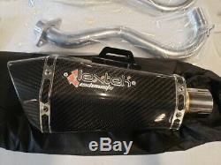 06-10 GSXR 600 750 Exhaust Carbon Fiber/Stainless -slip on muffler with head pipe