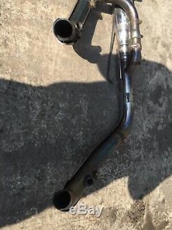 09 Harley Davidson FXDB Dyna Street Bob Full Exhaust Pipe Muffler Head Header