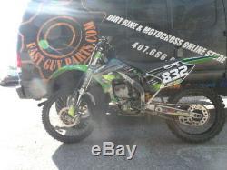 2005 Kawasaki Kx 250f Exhaust Head Pipe + Silencer (c) 05 Kx250f