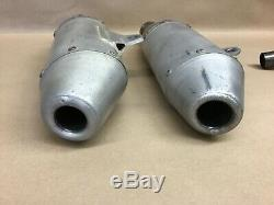 2008 08 Honda CRF250r COMPLETE Exhaust Silencers Silencer Header Mid Y Pipe Head