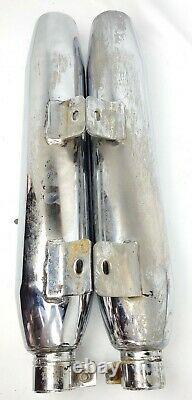 79 Harley Ironhead Dual Exhaust X Pipe Crossover Muffler Xlcr Header Set Siamese