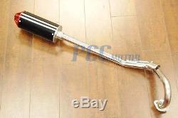 Black / Red Muffler Head Pipe Exhaust Pit Bike Xr50 Crf50 Crf Sdg 107 9 Ex16