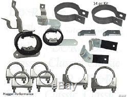Chambered Exhaust Hanger Kit, with Clamps 69 Camaro fit 67-68 Z28 or BB system