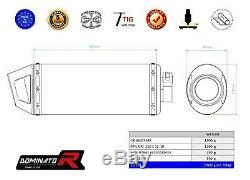 Exhaust Auspuff MX + HEAD PIPE KRÜMMER DOMINATOR CRF 250 L 12-18 + db killer