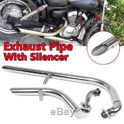 Exhaust Head Muffler Pipes + Silencer Retro For Yamaha Virago V Star XV 250 AU