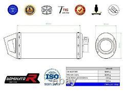 Exhaust MX + HEADER HEAD PIPE DOMINATOR CRF 250 L 2012-2016 + db killer