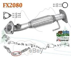 FX2080 Direct Fit Exhaust Flange Repair Flex Pipe Replacement Kit with Gaskets