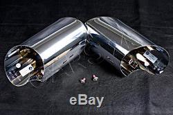 Genuine Exhaust Tail Chrome Pipe Tips + Head Screws M5X10 Pair BMW X6 E71 08-14