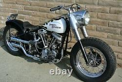 Harley 1948-64 Panhead Squish head pipes 3 piece exhaust Shot Gun USA made