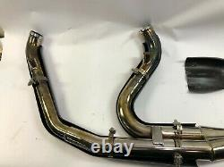 Harley 2 into 1 two into one exhaust header head pipe Rinehart D&D V&H