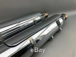 Harley Davidson Softail Cross Bone Auspuff Endtöpfe 64727-08 64728-08