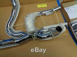 Harley Vance Hines Power Dual Exhaust Head Pipe Kit Chrome 2009 Touring Bagger