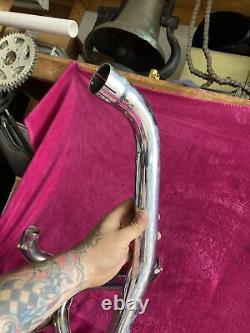 Harley ironhead 1979 x pipe exhaust header head pipe cross over dual Sportster