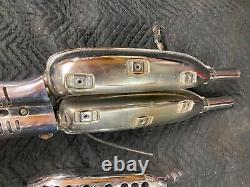 Honda CL350 Scrambler FULL Exhaust Muffler head Pipe HM345