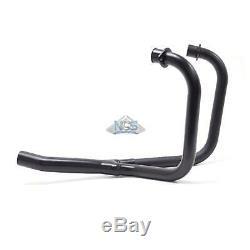 Honda CX500 2-1 Custom Sport Black 2 2-Into-1 Exhaust Header Head Pipes