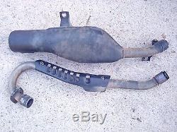 Honda atc 200x exhaust head pipe header muffler 84 OEM FAST FREE SHIPPING