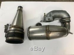Kawasaki 650 SX X2 650sx STOCK OEM Complete Exhaust Pipe Chamber Head Pipe Bolts