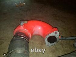 Kawasaki JS 550 440 SX aftermarket exhaust head pipe and chamber COFFMAN