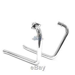 Kawasaki KZ400/440 All Years Chrome 1.5 2-Into-2 Exhaust Header Head Pipes