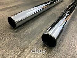 Mac Harley Davidson Early Shovel Head Gen Mtr High Chrome Muffler Exhaust Pipes