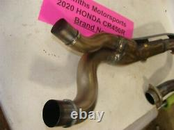 NEW 2020 Honda CRF450r rx rwe oem pipe exhaust header head 2019 heat shield