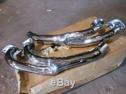 NOS Vintage MAC Muffler Exhaust Chrome Head Pipes Headpipes Honda 86-87 GL1200