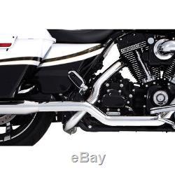 Rinehart Racing Xtreme True Duals Exhaust Head Pipes Chrome