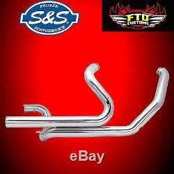 S&S Power Tune Cross Over Under Header Exhaust Head Pipes Harley 09-16 Touring