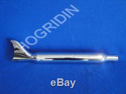 Samson Harley softail exhaust muffler fishtail silver bullet 4 dual head pipes