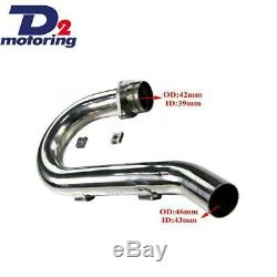 Stainless Exhaust head pipe Header FOR Yamaha WR450F 2003-2006