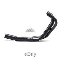 Suzuki GS750/1100/1150 Black 4-Into-2-to-1 Exhaust Header Head Pipes