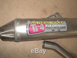 Titanium Ti-4 Pro Circuit Full Exhaust System Head pipe Muffler Suzuki RMZ450