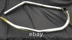 Triumph 500cc Swept Back Exhaust Pipes (alloy head) UK Made