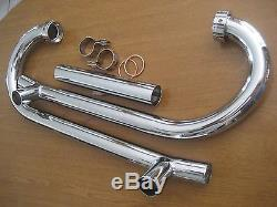 Vintage Bmw R50/2 R50 New Pair Of Beautiful Chrome Exhaust Head Pipe Package